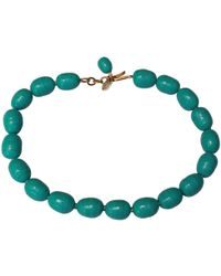 Chanel - Vintage Green Glass Necklace - Lyst