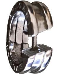BVLGARI - Pre-owned Silver White Gold Earrings B.zero1 - Lyst