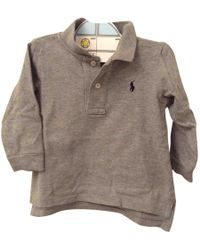 Polo Ralph Lauren - Grey Cotton Top - Lyst