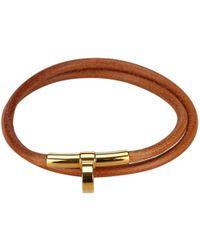 Hermès - Leather Necklace - Lyst