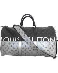 9a0233536d50 Louis Vuitton Damier Geant Canvas Albatros Duffel Bag in Black for ...