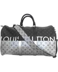 Louis Vuitton   Pre-owned Keepall Cloth Weekend Bag   Lyst