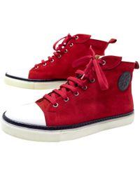 Hermès - Red Velvet Trainers - Lyst