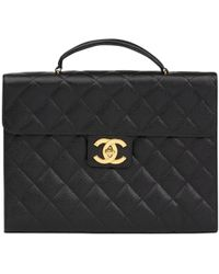 Chanel - Black Leather - Lyst