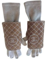 Chanel - Pre-owned Cashmere Long Gloves - Lyst