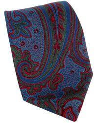 Ferragamo - Blue Silk Tie - Lyst