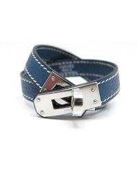 Hermès - Kelly Double Tour Leather Bracelet - Lyst