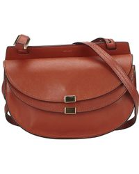 Chloé - Georgia Brown Leather Handbag - Lyst
