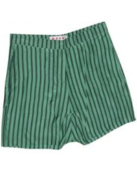 Marni - Green Silk Shorts - Lyst