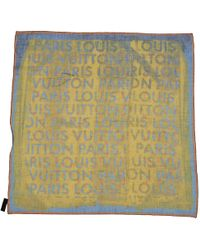Louis Vuitton - Pre-owned Silk Scarf - Lyst