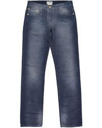 Chanel - Blue Linen Trousers - Lyst
