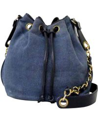 54a7c6c10fe7 Lyst - Chanel Pre-owned Vintage Blue Denim - Jeans Handbags in Blue