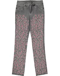 Chanel - Grey Cotton Jeans - Lyst