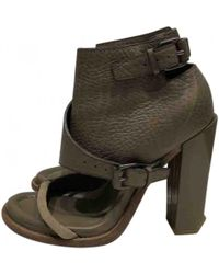 Alexander Wang - Khaki Leather Ankle Boots - Lyst