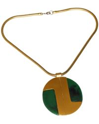 Lanvin - Pre-owned Vintage Gold Metal Necklaces - Lyst