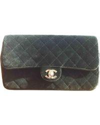 Chanel - Pre-owned Timeless Velvet Backpack - Lyst