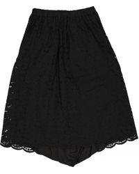 Comme des Garçons - Black Cotton Shorts - Lyst