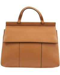 Tory Burch - Camel Leather Handbag - Lyst