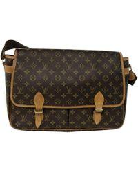 Louis Vuitton - Vintage Brown Cloth Handbag - Lyst 556f627fc3dff