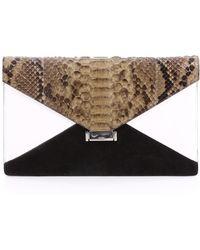 Céline - Pre-owned Diamond Clutch Python Clutch Bag - Lyst
