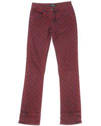 Chanel - Burgundy Cotton - Elasthane Jeans - Lyst