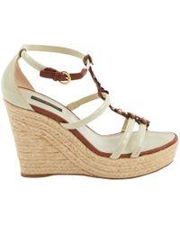 Louis Vuitton - Patent Leather Sandals - Lyst