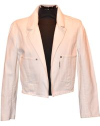 Chanel - Pre-owned Vintage White Cotton Jacket - Lyst