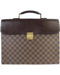 Louis Vuitton - Vintage Brown Cloth Bag - Lyst