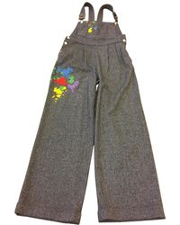 Olympia Le-Tan - Pre-owned Grey Wool Jumpsuits - Lyst
