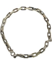 Marc By Marc Jacobs - Pre-owned Silver Necklace - Lyst