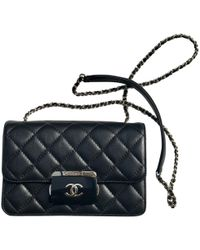 Chanel Timeless Leather Crossbody Bag in Black - Lyst 3fb4423e86a61