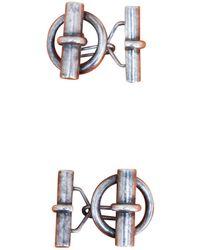 Hermès - Pre-owned Vintage Silver Silver Cufflinks - Lyst