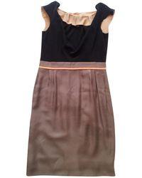 8fe2a634dae Fendi Puff-sleeve Sweater Dress in Pink - Lyst