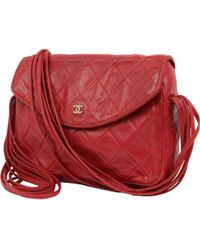 Chanel - Pre-owned Vintage Red Leather Handbag - Lyst