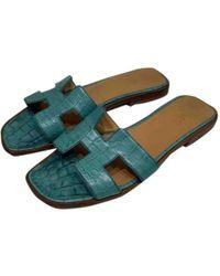 e5797e74f0c1 Hermès Oran - Women's Hermès Oran Sandals - Lyst