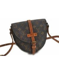 537fa445a Louis Vuitton - Vintage Chantilly Brown Cloth Handbag - Lyst