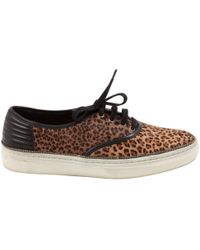 The Kooples - Brown Pony-style Calfskin Trainers - Lyst