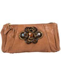 Chloé - Camel Leather Clutch Bag - Lyst