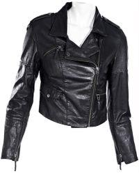 Oscar de la Renta - Black Leather - Lyst