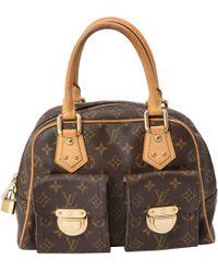 Louis Vuitton - Pre-owned Manhattan Cloth Handbag - Lyst
