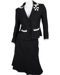 Chanel - Black Viscose Skirt - Lyst