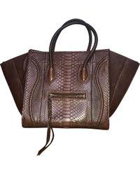 Céline - Luggage Phantom Python Handbag - Lyst