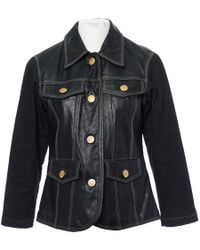 Moschino - Black Leather Leather Jacket - Lyst