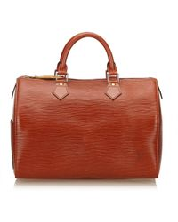 Louis Vuitton - Speedy Leather Handbag - Lyst