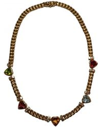 BVLGARI - Yellow Gold Necklace - Lyst