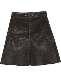 Isabel Marant - Leather Mini Skirt - Lyst