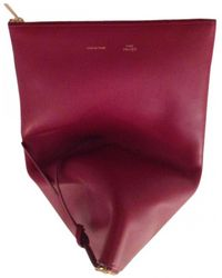 463c7c3aef25 Bvlgari Pre-owned Vintage Burgundy Leather Clutch Bags in Purple - Lyst