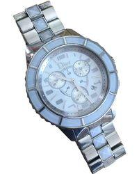 Dior - Christal Silver Steel Watches - Lyst