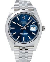 Rolex - Datejust Ii 41mm Blue Steel Watches - Lyst