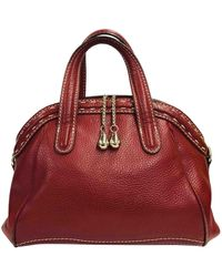 Lancel Red Leather Handbag